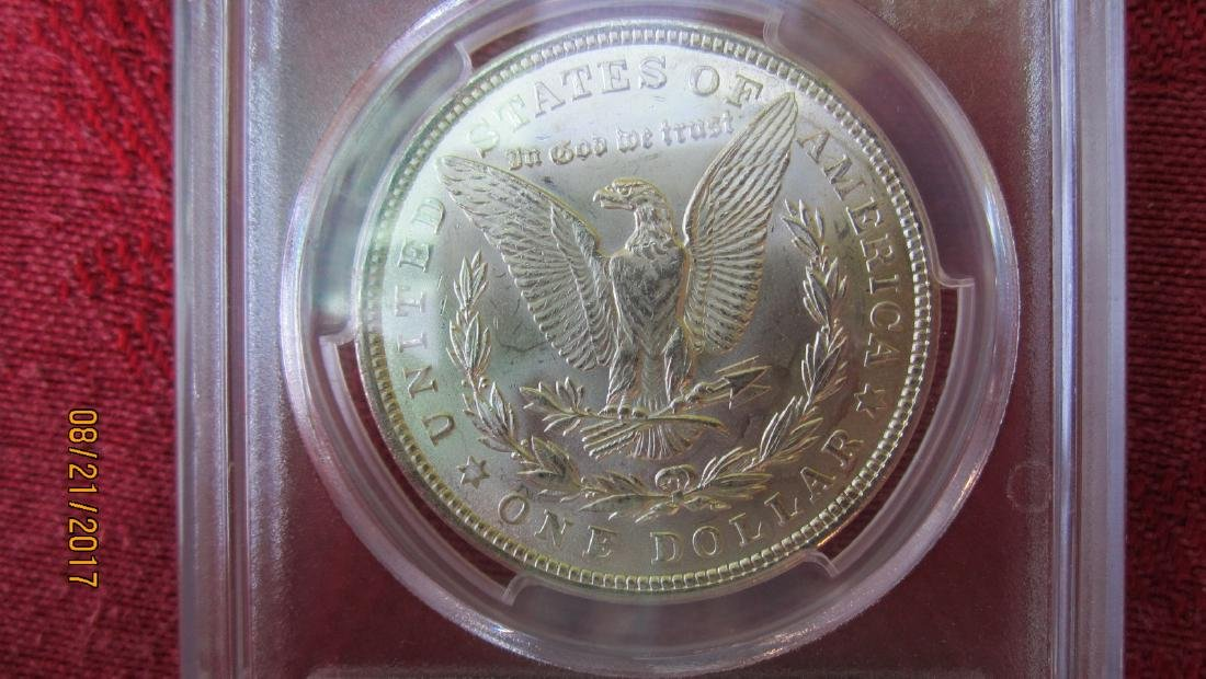 1921 MS63 MORGAN SILVER DOLLAR IN CASE FROM PCGS CO. - 3