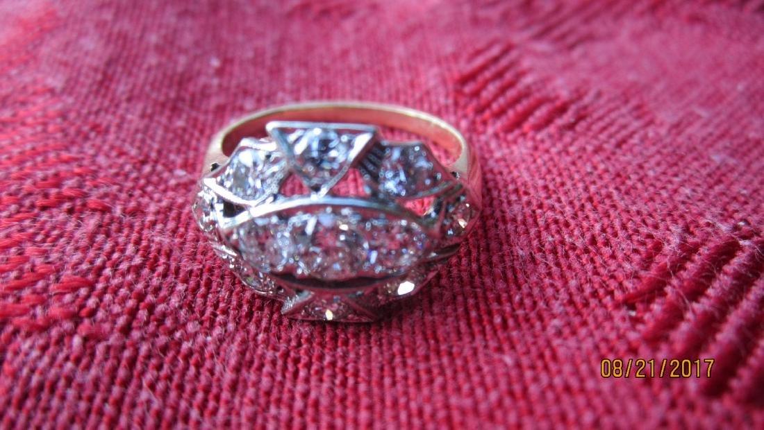 FABULOUS 14K RING WITH 11 DIAMOND TOTAL - DIAMONDS