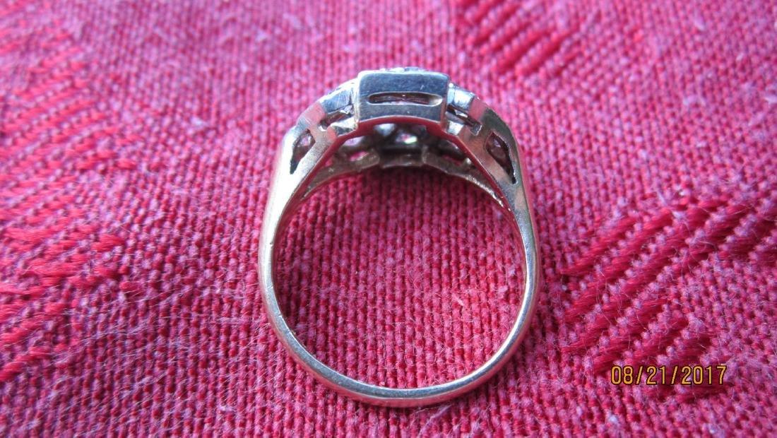 FABULOUS 14K RING WITH 11 DIAMOND TOTAL - DIAMONDS - 3