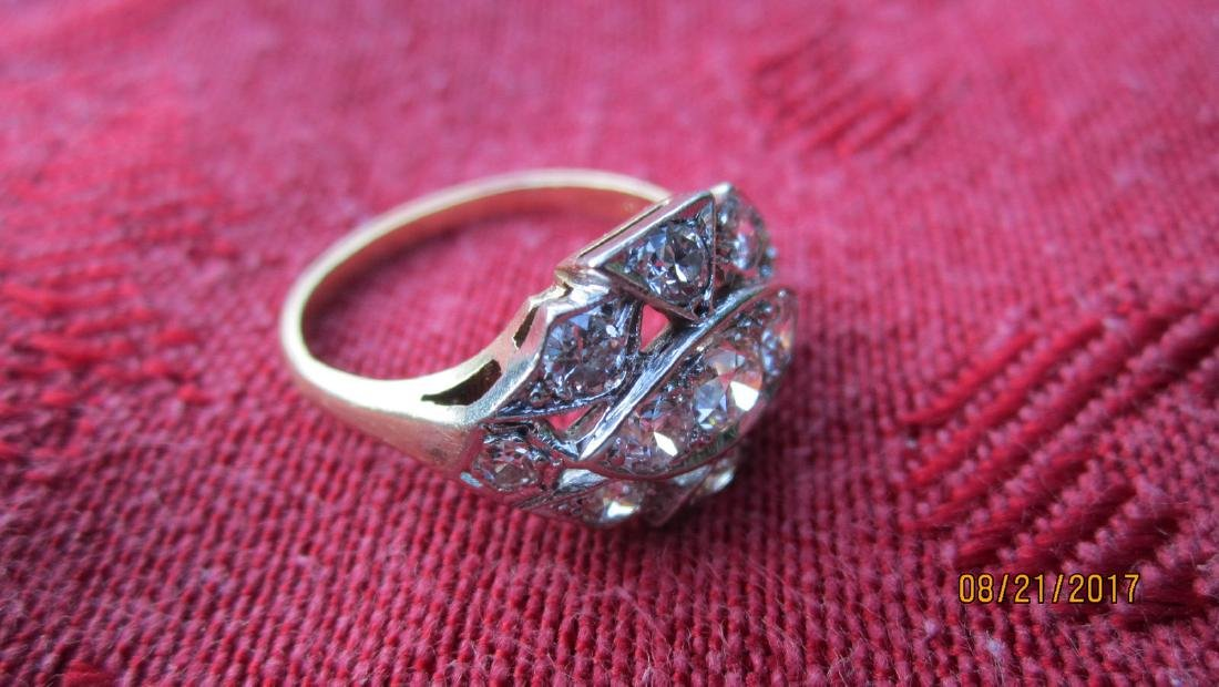 FABULOUS 14K RING WITH 11 DIAMOND TOTAL - DIAMONDS - 4