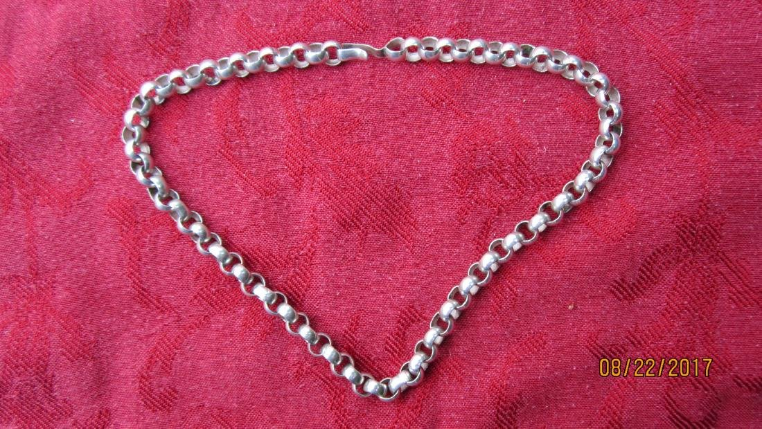 HEAVY 18 INCH STERLING NECKLACE - 1.4 OZT - EXC.COND