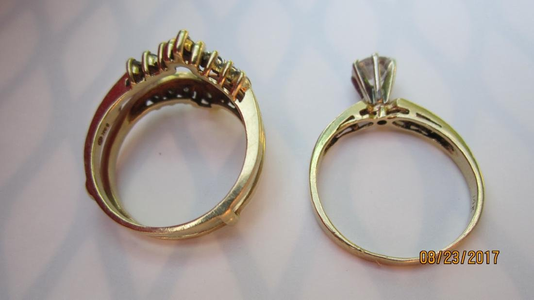 MAGNIFICENT 2 PC. RING SET WITH APPROX. 45 PT. CENTER - 3