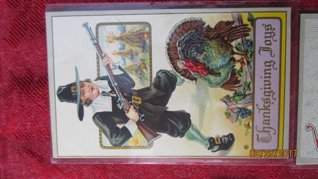 LOT OF 25 THANKSGIVING POSTCARDS - MOST IN PLASTIC - - 2