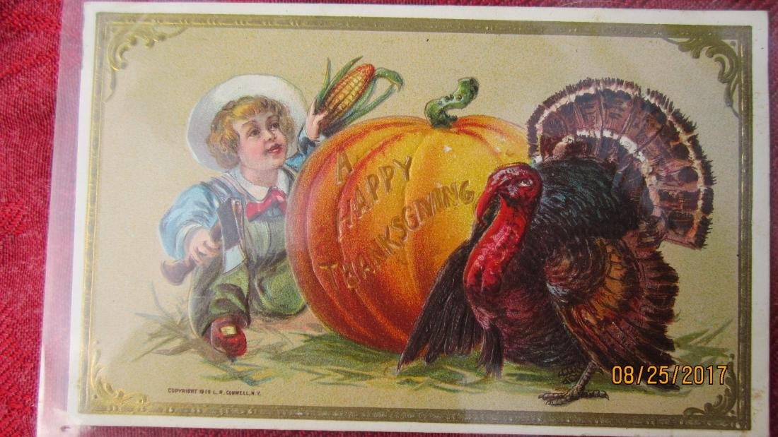 LOT OF 25 THANKSGIVING POSTCARDS - MOST IN PLASTIC - - 3