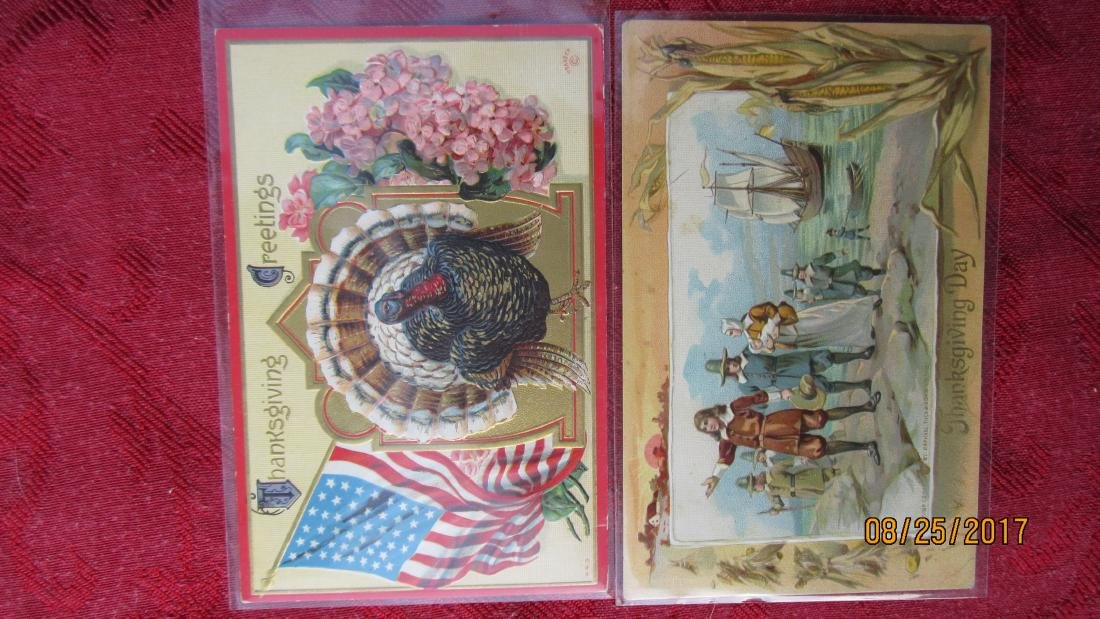 LOT OF 25 THANKSGIVING POSTCARDS - MOST IN PLASTIC - - 4