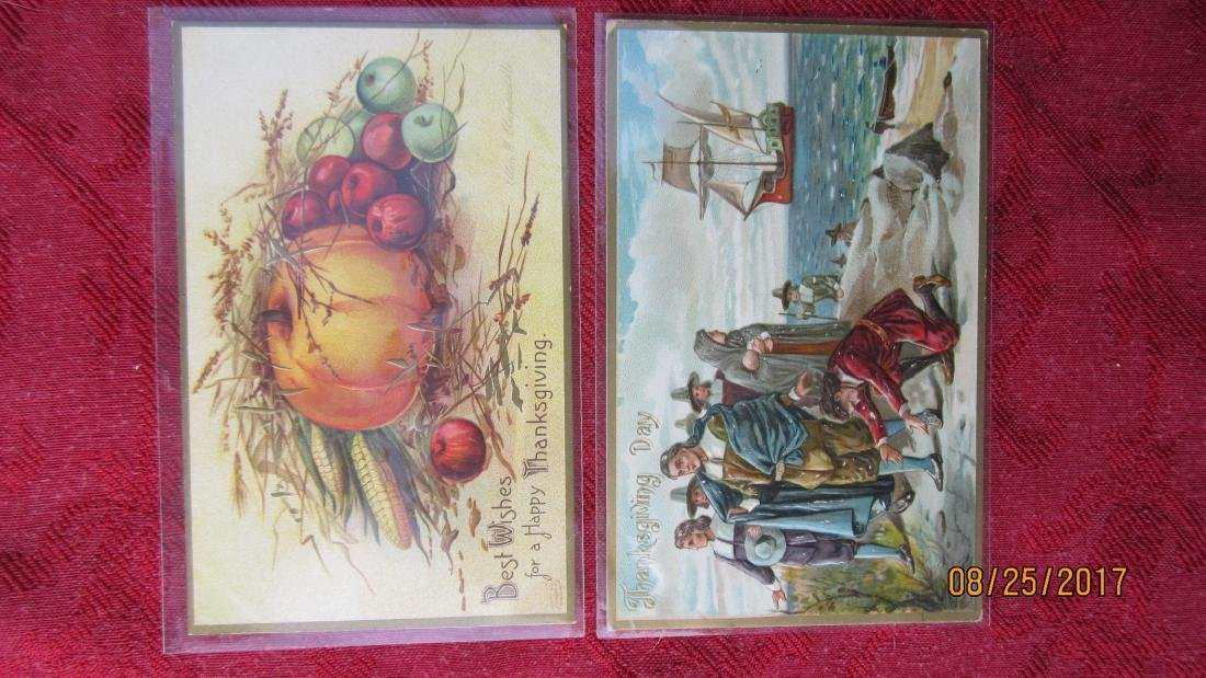 LOT OF 25 THANKSGIVING POSTCARDS - MOST IN PLASTIC - - 5