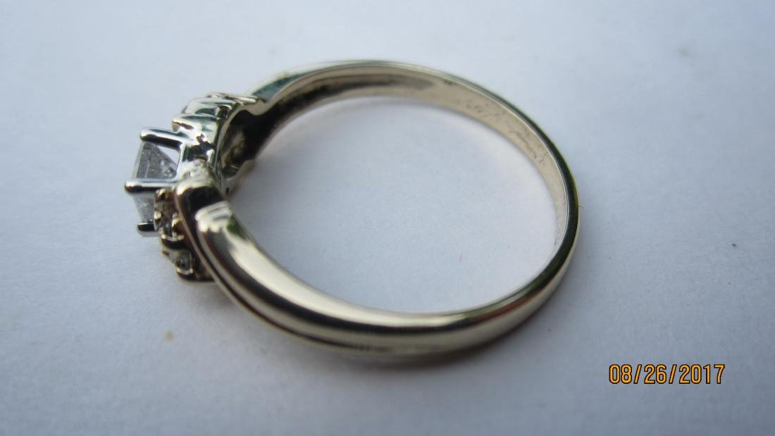 OUTSTANDING 14K RING WITH 25-30 PT. PRINCESS CENTER - 2