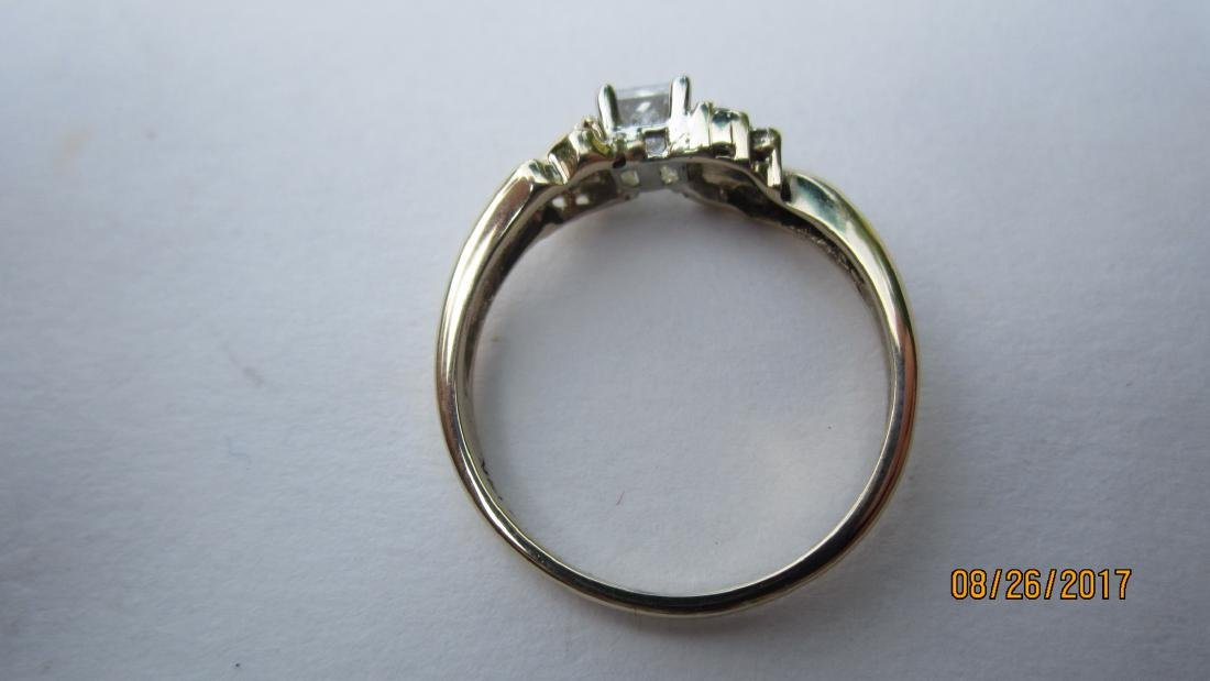 OUTSTANDING 14K RING WITH 25-30 PT. PRINCESS CENTER - 3