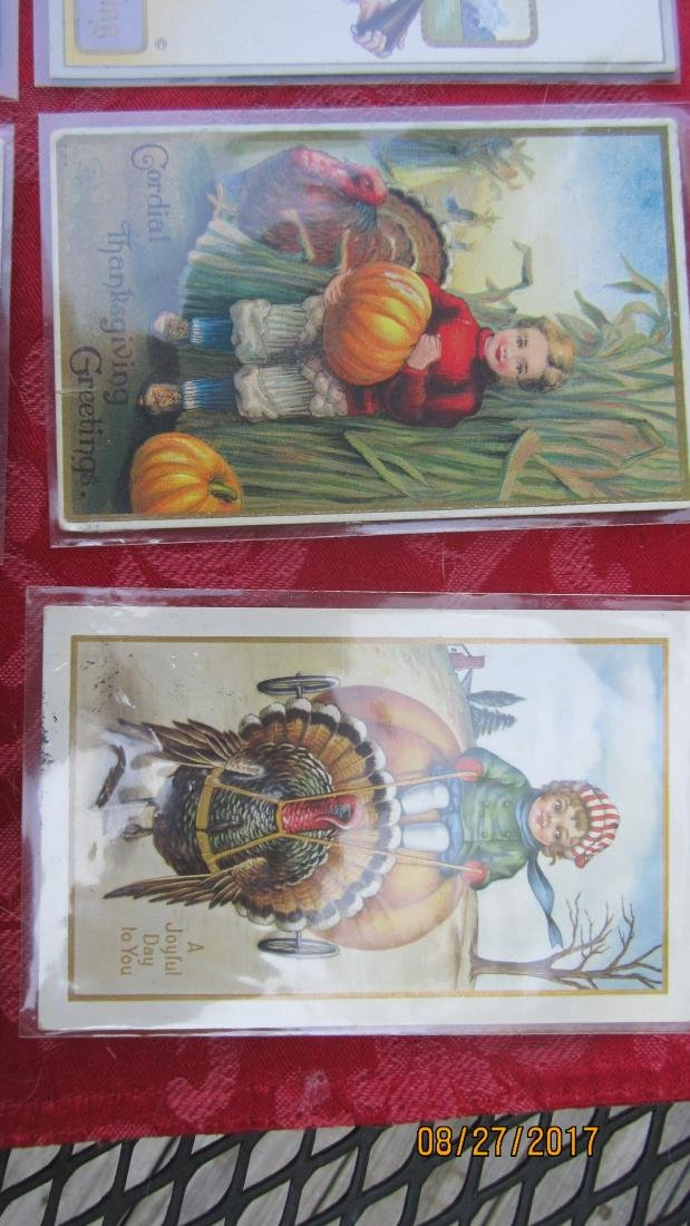 LOT OF 15 THANKSGIVING POSTCARDS - MOST  - EXC. COND. - 2