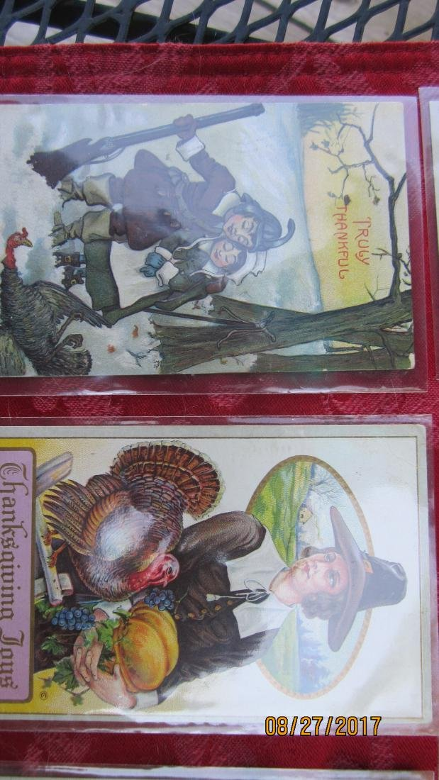 LOT OF 15 THANKSGIVING POSTCARDS - MOST  - EXC. COND. - 3
