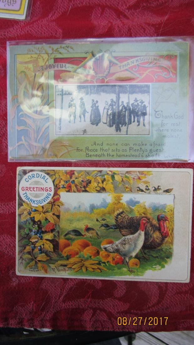 LOT OF 15 THANKSGIVING POSTCARDS - MOST  - EXC. COND. - 4