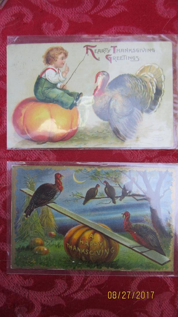LOT OF 15 THANKSGIVING POSTCARDS - MOST  - EXC. COND. - 5