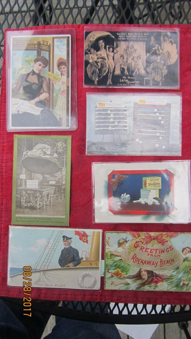 LOT OF 7 ADVERTISEMENT POSTCARDS  - EXC. COND.