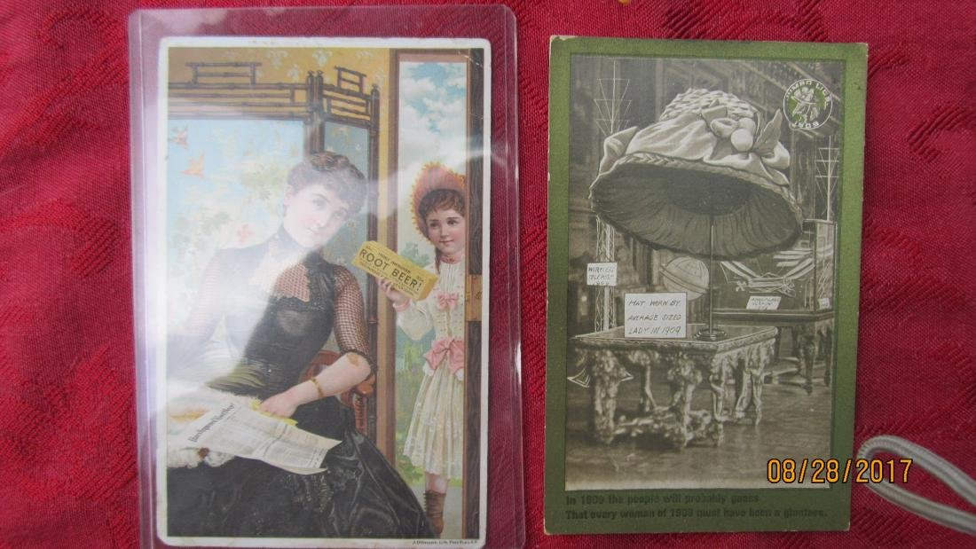 LOT OF 7 ADVERTISEMENT POSTCARDS  - EXC. COND. - 3