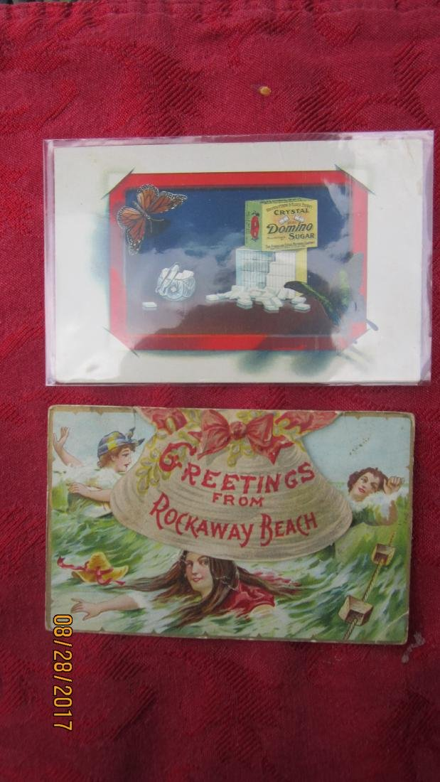 LOT OF 7 ADVERTISEMENT POSTCARDS  - EXC. COND. - 4