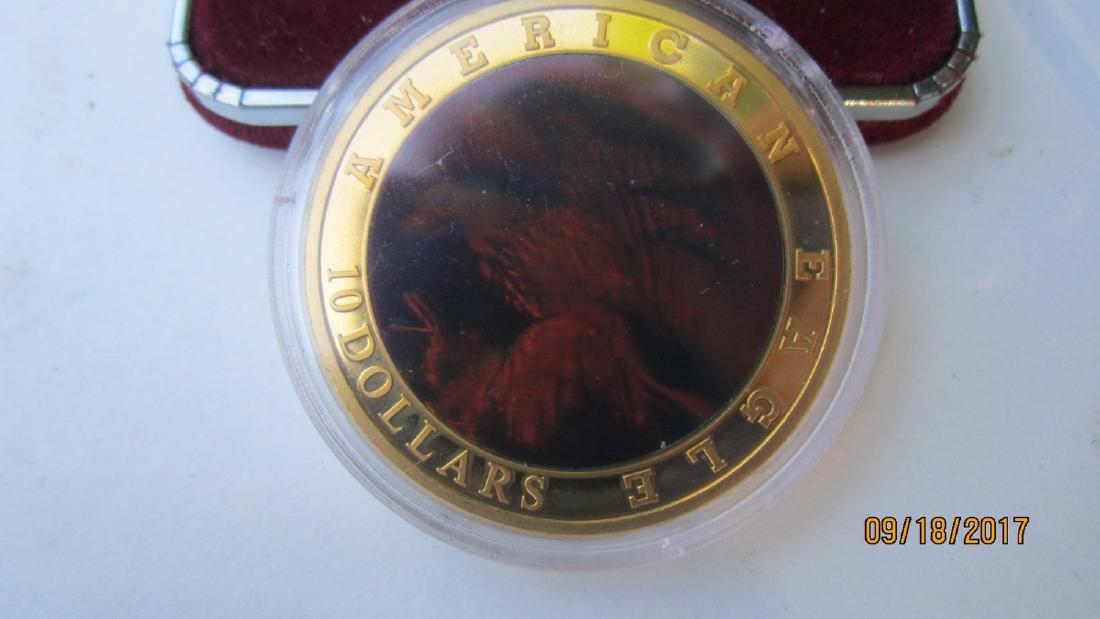 UNUSUAL AMERICAN EAGLE $10 HOLOGRAM EAGLE IN CASE - - 2