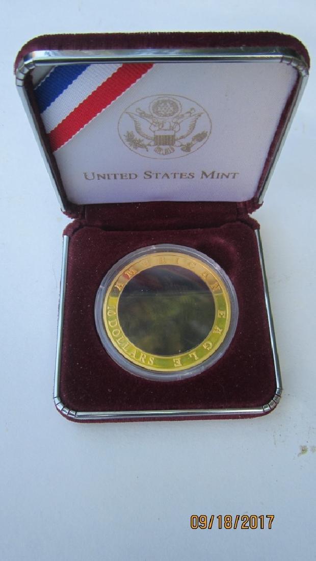 UNUSUAL AMERICAN EAGLE $10 HOLOGRAM EAGLE IN CASE - - 4