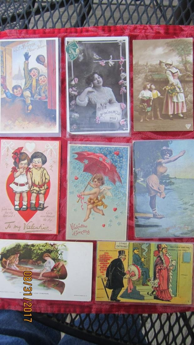 GREAT LOT OF 37 MIXED POSTCARDS - MOST  GOOD  COND.