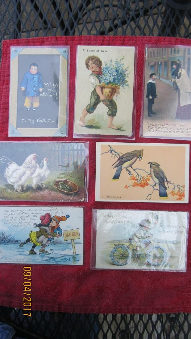 LOT OF 23 POSTCARDS WITH CHILDREN AND ANIMALS - MOST  -