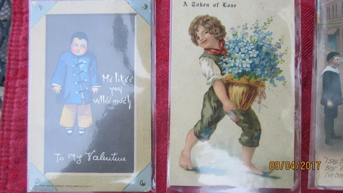 LOT OF 23 POSTCARDS WITH CHILDREN AND ANIMALS - MOST  - - 3