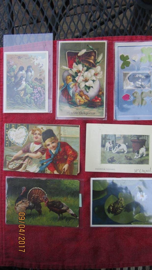 LOT OF 23 POSTCARDS WITH CHILDREN AND ANIMALS - MOST  - - 4