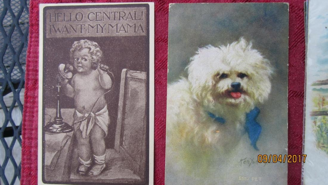 LOT OF 23 POSTCARDS WITH CHILDREN AND ANIMALS - MOST  - - 9