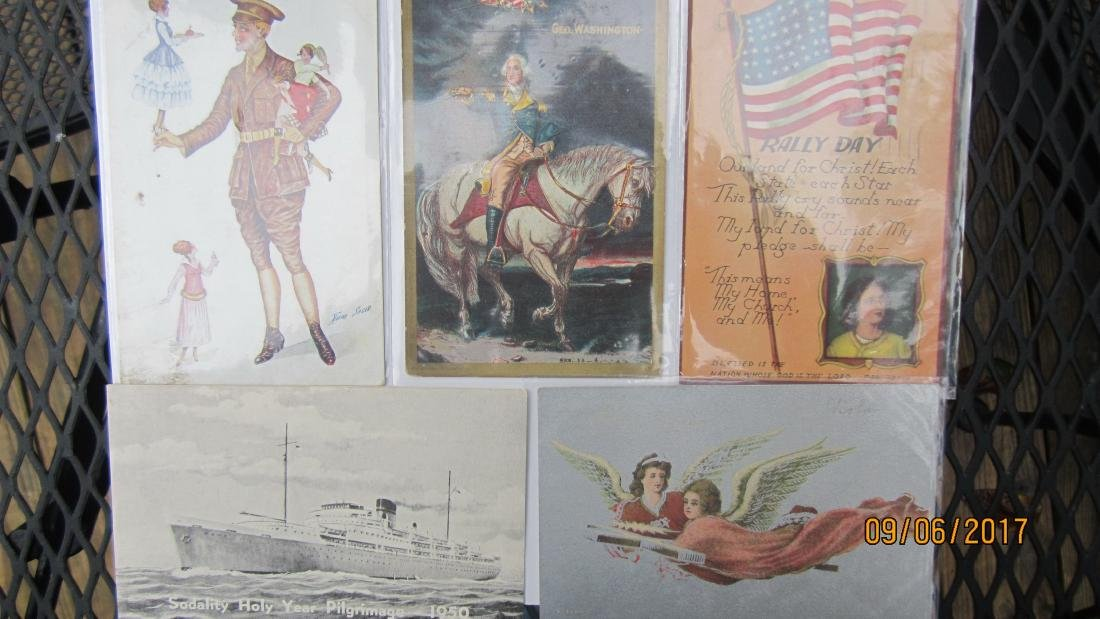 LOT OF 35 EARLY ASSORTED POSTCARDS - MOST  IN EXC.