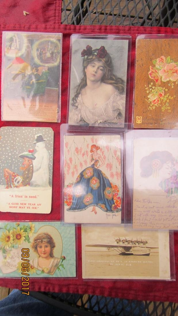 LOT OF 35 EARLY ASSORTED POSTCARDS - MOST  IN EXC. - 3