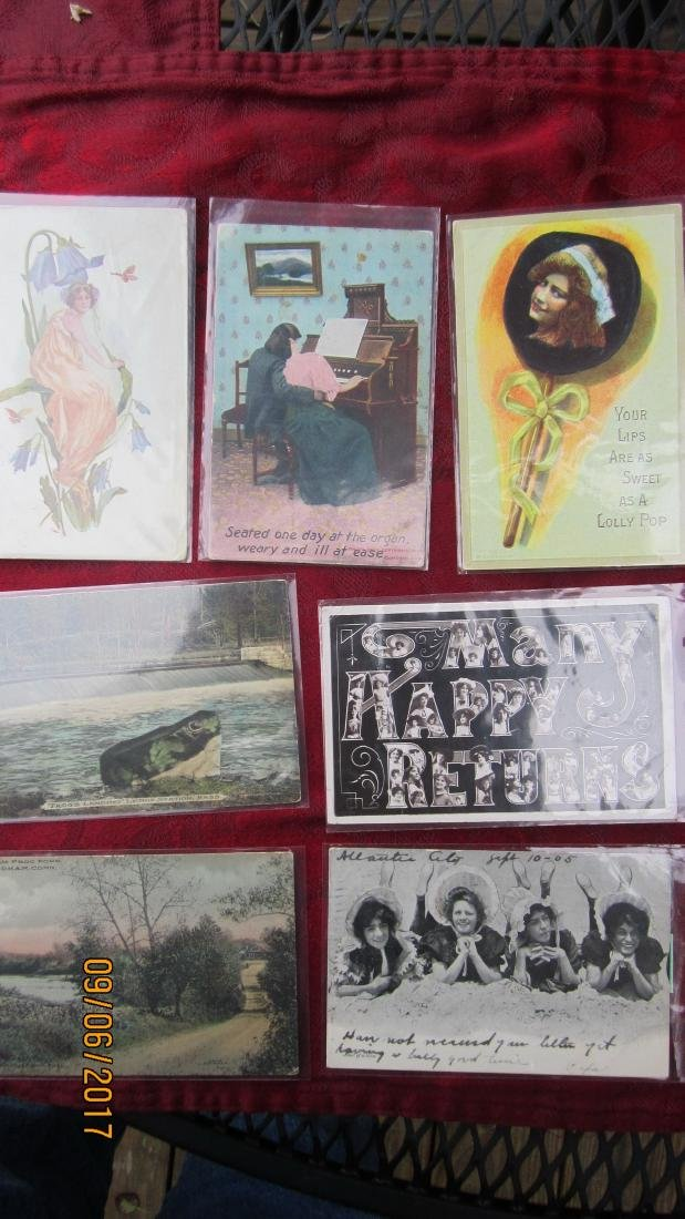 LOT OF 35 EARLY ASSORTED POSTCARDS - MOST  IN EXC. - 5