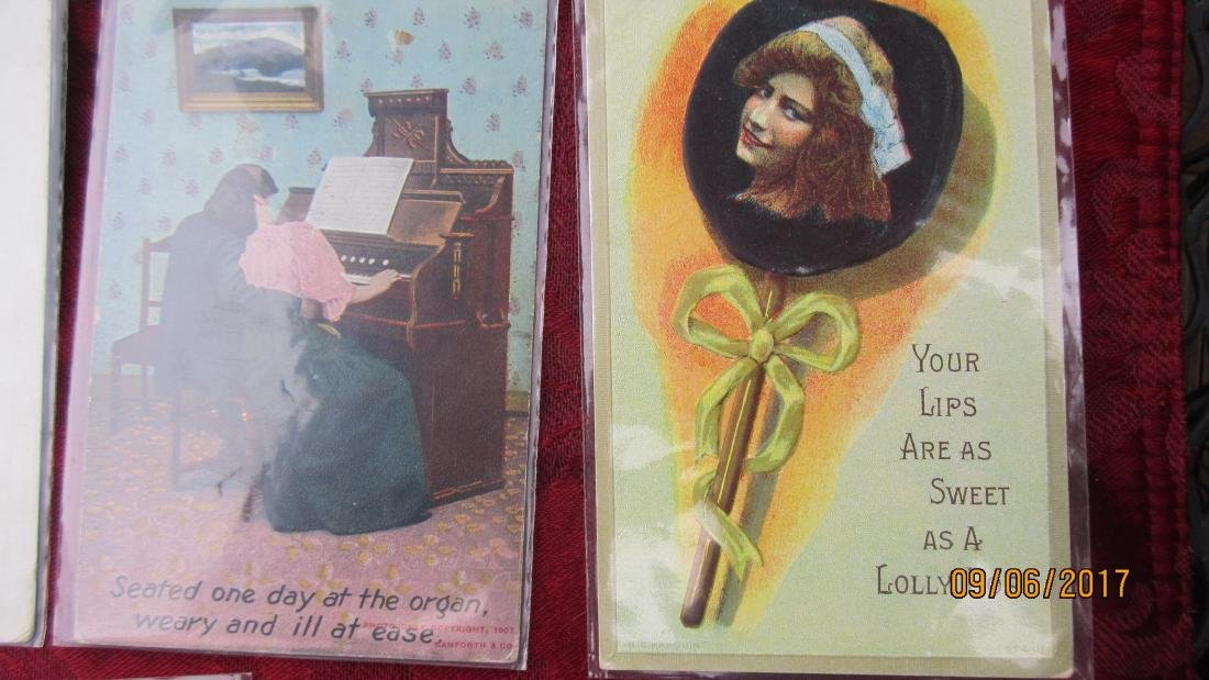 LOT OF 35 EARLY ASSORTED POSTCARDS - MOST  IN EXC. - 6