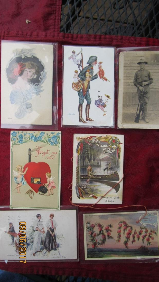 LOT OF 35 EARLY ASSORTED POSTCARDS - MOST  IN EXC. - 9