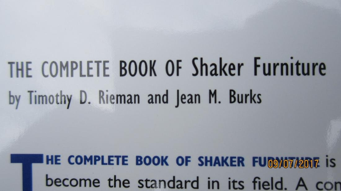 400 PAGE BOOK - THE COMPLETE BOOK OF SHAKER FURNITURE - 5