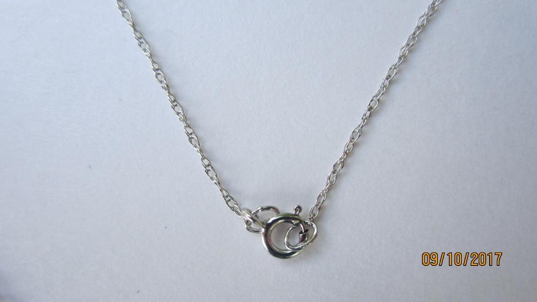 "10K - 18"" NECKLACE AND 10K PENDANT WITH 3 DIAMONDS  - - 3"