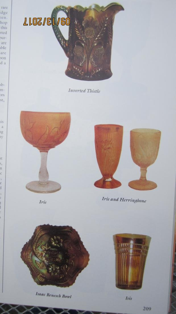 THE ENCYCLOPEDIA OF CARNIVAL GLASS 495 PAGES   - EXC. - 3