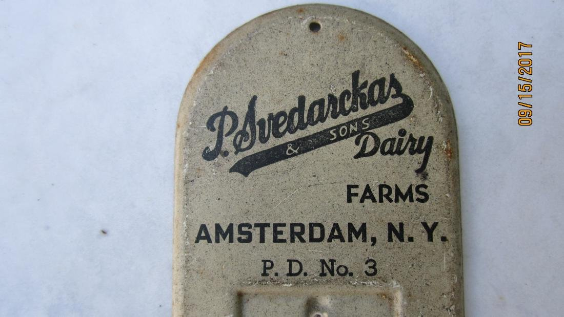 EARLY THERMOMETER FROM AMTERDAM N.Y. - P. SVEDARCKAS & - 2