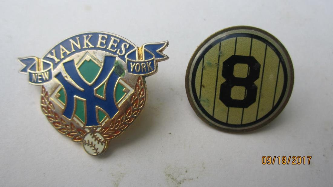 2 NICE BASEBALL PINS - ONE YANKEES THE OTHER IS A EARLY