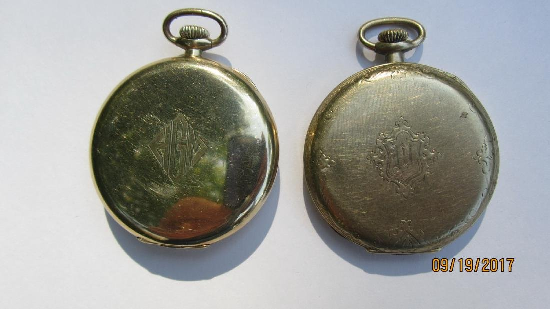 2 POCKET WATCHES WITH 25 YEAR CASES - GOLD - ELGIN AND - 2
