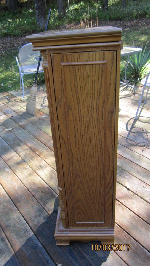 """GREAT OAK FINISHED JEWELRY CABINET 18"""" WIDE AND 42"""" - 4"""