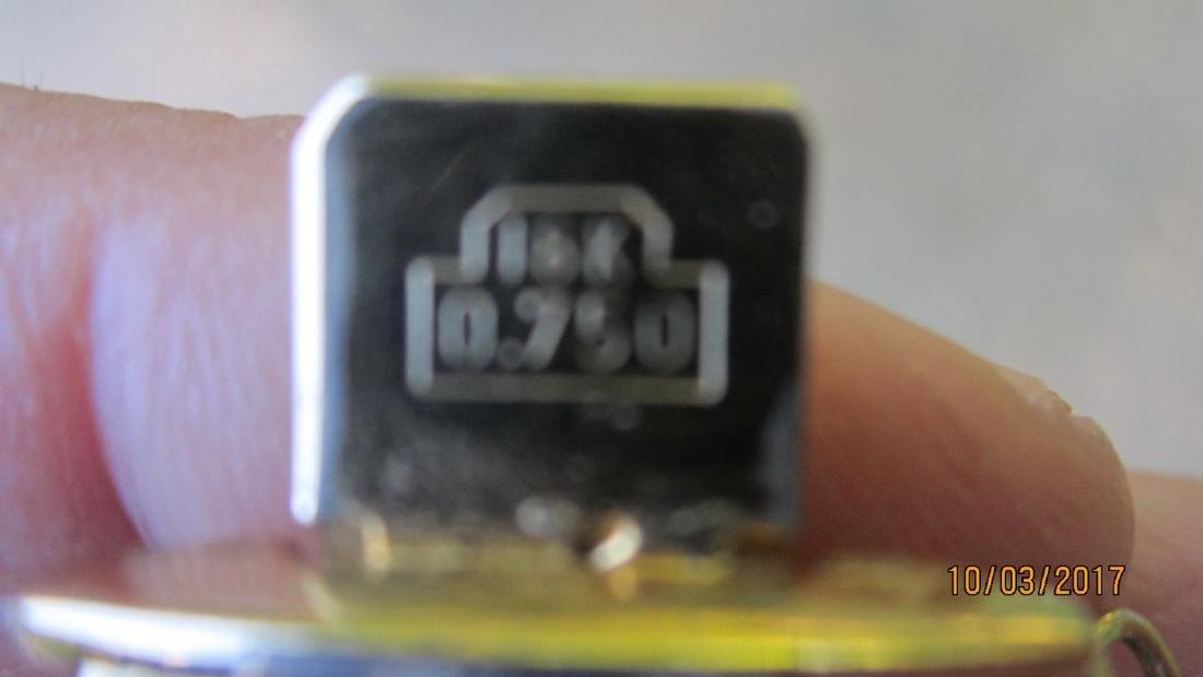 "FABULOUS SIGNED 18 K 0.750 - 8 INCH BRACELET 14/16"" - 3"