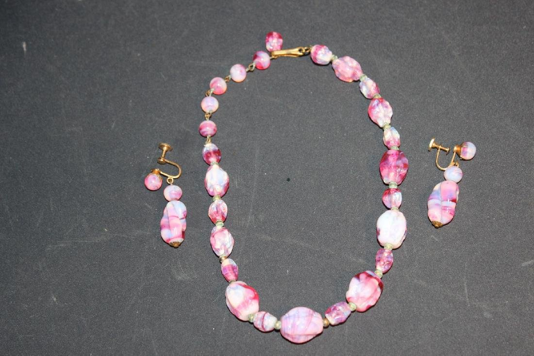 LOVELY 3 PIECE OPAL SET - NECKLACE 15""