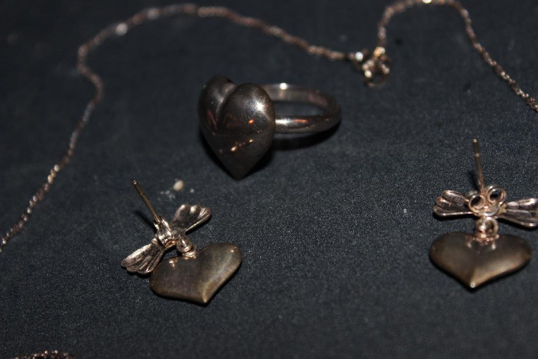 4 PIECE SET - NECKLACE, RING AND EARRINGS - ALL IN - 2