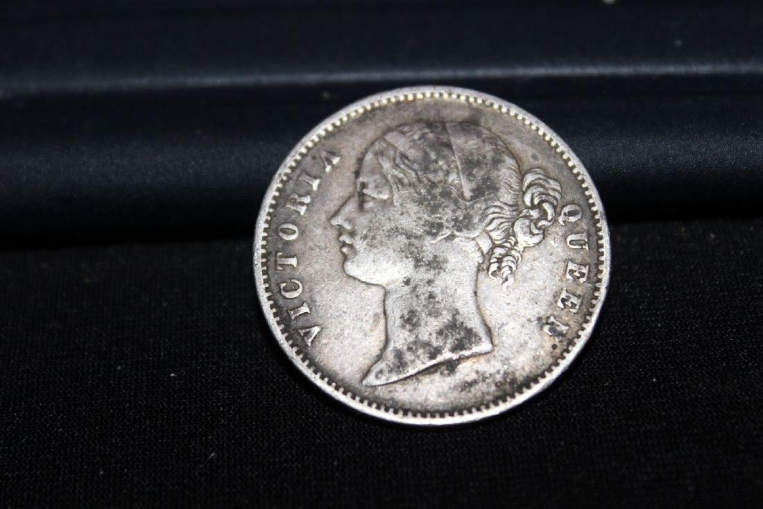 1840 SILVER QUEEN VICTORIA ONE RUPEE INDIA- BRITISH