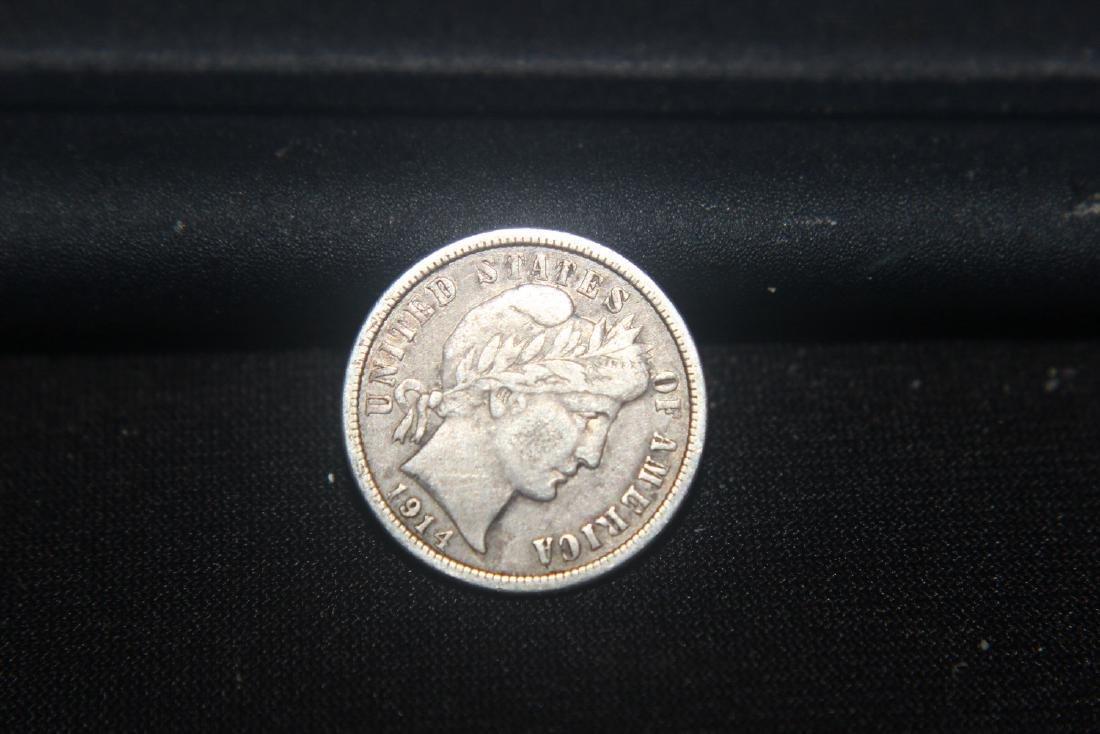 6 MISC. AMERICAN COINS - 1906 BARBER $.50 - 1901 BARBER - 2
