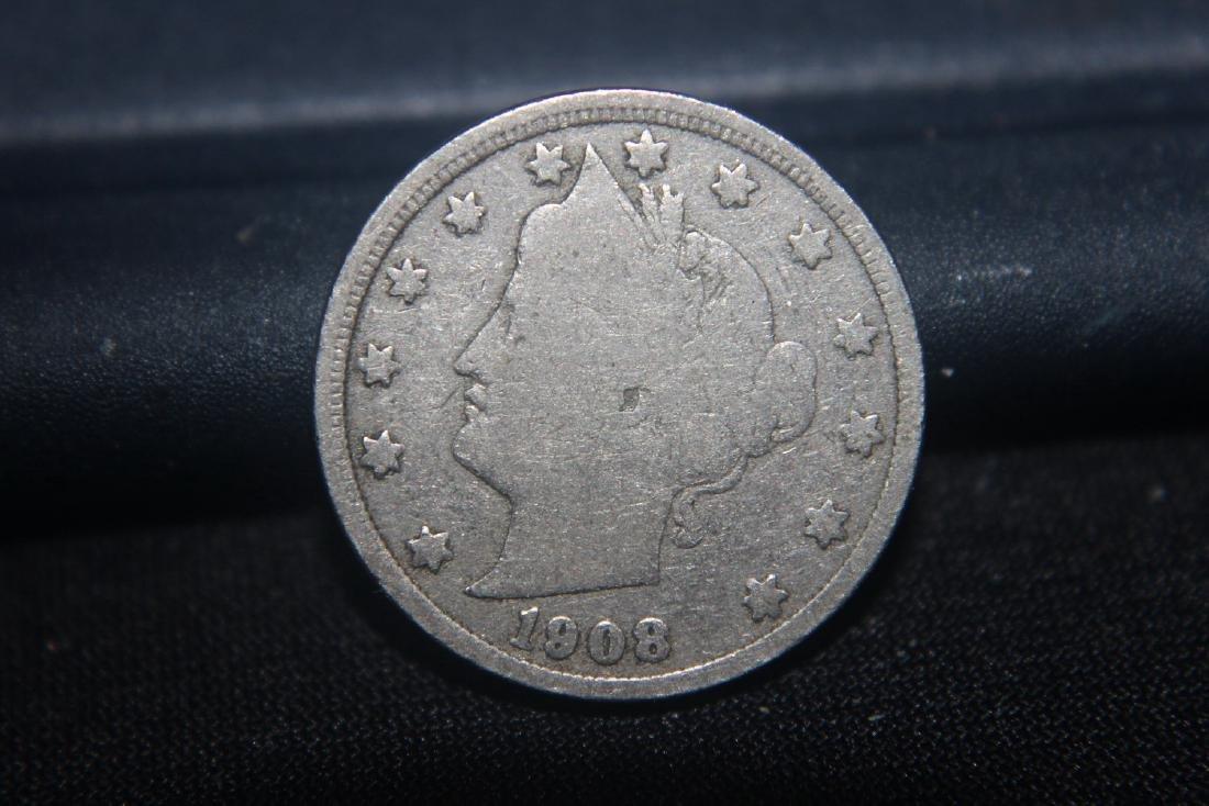 6 MISC. AMERICAN COINS - 1906 BARBER $.50 - 1901 BARBER - 7