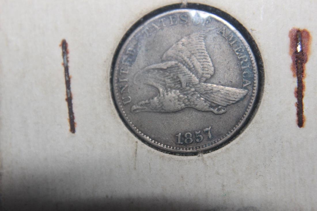 THIS IS A SUPER 1857 FLYING EAGLE PENNY AND NEARLY
