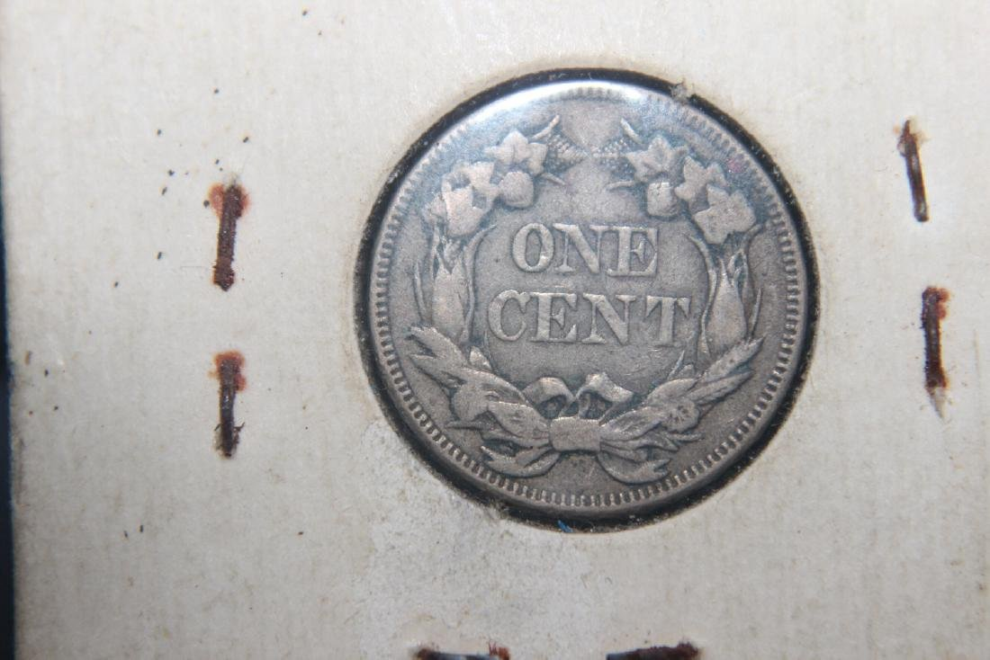 THIS IS A SUPER 1857 FLYING EAGLE PENNY AND NEARLY - 2