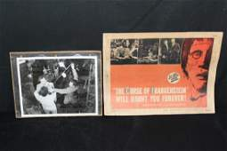 THE CURSE OF FRANKENSTEIN LOBBY CARD 1957 GOOD AND