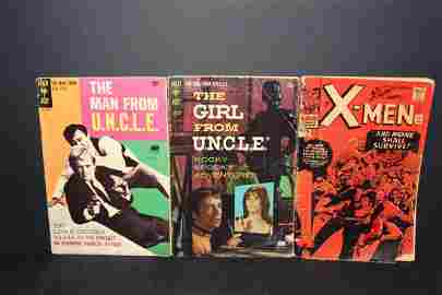 3 COMICS - MAN FROM UNCLE 1968 FAIR- GIRL FROM UNCLE