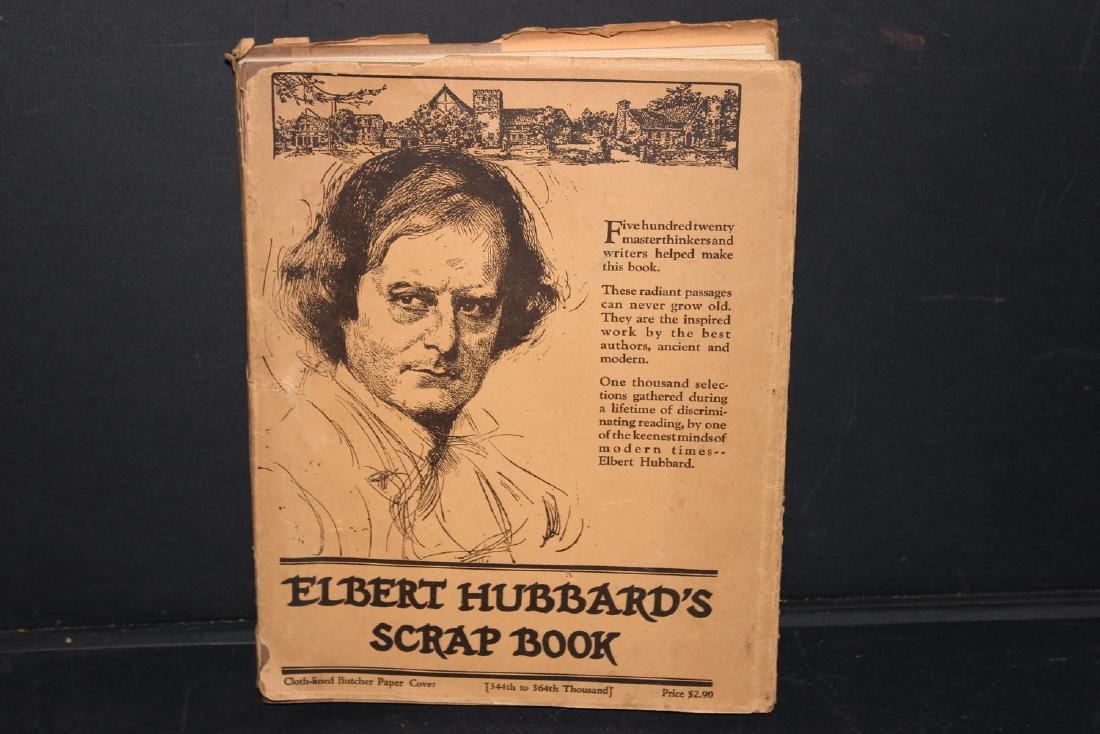 ELBERT HUBBARD SCRAPBOOK 1923 VERY GOOD - 288 PAGES