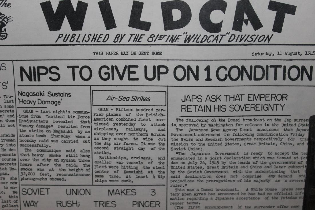24 ISSUES 1945 WARTIME WILDCAT AS PLACED IN FOLDER BY - 10